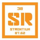 Χημικό στοιχείο στροντίου Στοκ Εικόνες