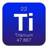 Χημικό στοιχείο τιτανίου Στοκ Εικόνα