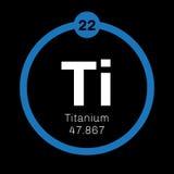 Χημικό στοιχείο τιτανίου Στοκ φωτογραφία με δικαίωμα ελεύθερης χρήσης