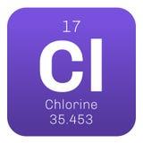 Χημικό στοιχείο χλωρίου Στοκ Εικόνες