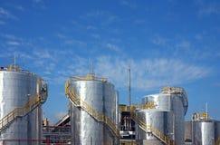 χημικό petro εργοστασίων Στοκ Εικόνα