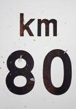 Χιλιόμετρο σημάτων Στοκ φωτογραφία με δικαίωμα ελεύθερης χρήσης