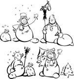 χιονάνθρωποι διασκέδαση απεικόνιση αποθεμάτων