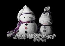 Χιονάνθρωποι στο σκοτάδι Στοκ φωτογραφία με δικαίωμα ελεύθερης χρήσης
