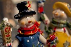 Χιονάνθρωποι Χριστουγέννων Στοκ Εικόνα
