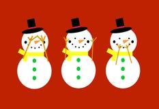χιονάνθρωποι Στοκ φωτογραφίες με δικαίωμα ελεύθερης χρήσης