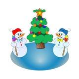 χιονάνθρωποι διανυσματική απεικόνιση