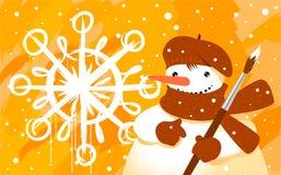 χιονάνθρωπος βουρτσών Στοκ εικόνες με δικαίωμα ελεύθερης χρήσης