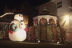χιονάνθρωπος διακοσμήσεων Χριστουγέννων στοκ φωτογραφία
