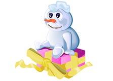 χιονάνθρωπος δώρων στοκ φωτογραφίες με δικαίωμα ελεύθερης χρήσης