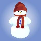 Χιονάνθρωπος επίσης corel σύρετε το διάνυσμα απεικόνισης Στοκ φωτογραφίες με δικαίωμα ελεύθερης χρήσης