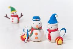 χιονάνθρωπος ζευγών Στοκ Εικόνες