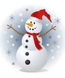 Χιονάνθρωπος, διανυσματική απεικόνιση Στοκ Εικόνα