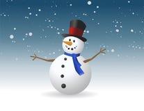 Χιονάνθρωπος, διανυσματική απεικόνιση Στοκ φωτογραφία με δικαίωμα ελεύθερης χρήσης