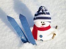 Χιονάνθρωπος - κάρτα Χριστουγέννων Στοκ εικόνα με δικαίωμα ελεύθερης χρήσης