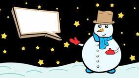 Χιονάνθρωπος και κενό εικονίδιο στο σκοτάδι διανυσματική απεικόνιση