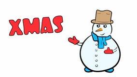 Χιονάνθρωπος και Χριστούγεννα στο λευκό φιλμ μικρού μήκους