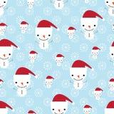 Χιονάνθρωπος και snowflakes Στοκ εικόνες με δικαίωμα ελεύθερης χρήσης