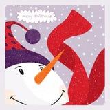 χιονάνθρωπος καρτών Στοκ Φωτογραφία