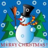 χιονάνθρωπος κινούμενων σχεδίων διανυσματική απεικόνιση