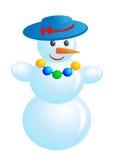 χιονάνθρωπος μόδας Διανυσματική απεικόνιση