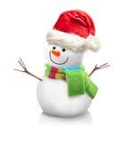 Χιονάνθρωπος που απομονώνεται Στοκ φωτογραφίες με δικαίωμα ελεύθερης χρήσης