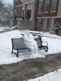 Χιονάνθρωπος πριν από την καταστροφή Στοκ φωτογραφία με δικαίωμα ελεύθερης χρήσης