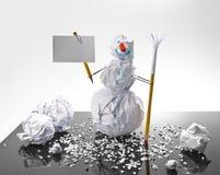 χιονάνθρωπος σημαδιών εγ&g Στοκ φωτογραφίες με δικαίωμα ελεύθερης χρήσης