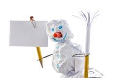 χιονάνθρωπος σημαδιών εγ&g Στοκ εικόνες με δικαίωμα ελεύθερης χρήσης