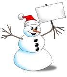 χιονάνθρωπος σημαδιών Στοκ εικόνες με δικαίωμα ελεύθερης χρήσης