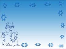 χιονάνθρωπος σκηνής Στοκ εικόνα με δικαίωμα ελεύθερης χρήσης