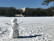 Χιονάνθρωπος στην ακρόπολη Στοκ Εικόνες