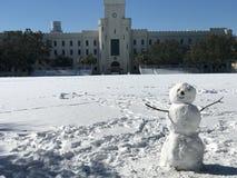 Χιονάνθρωπος στην ακρόπολη Στοκ εικόνα με δικαίωμα ελεύθερης χρήσης