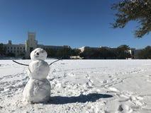 Χιονάνθρωπος στην ακρόπολη Στοκ φωτογραφία με δικαίωμα ελεύθερης χρήσης