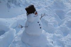 Χιονάνθρωπος στη Δημοκρατία της Τσεχίας Στοκ Φωτογραφίες