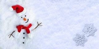 Χιονάνθρωπος στο χιόνι Στοκ Εικόνα