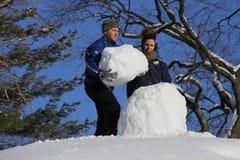 Χιονάνθρωπος στο Central Park Στοκ Φωτογραφίες