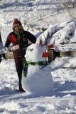 Χιονάνθρωπος στο Central Park Στοκ Εικόνες