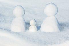χιονάνθρωπος τρία Στοκ εικόνες με δικαίωμα ελεύθερης χρήσης