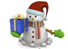 Χιονάνθρωπος - τρισδιάστατος Στοκ Εικόνες