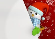 Χιονάνθρωπος - τρισδιάστατος Στοκ Φωτογραφία
