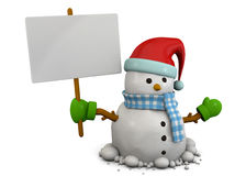 Χιονάνθρωπος - τρισδιάστατος Στοκ εικόνα με δικαίωμα ελεύθερης χρήσης