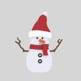 Χιονάνθρωπος τρισδιάστατος Στοκ εικόνες με δικαίωμα ελεύθερης χρήσης