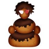 Χιονάνθρωπος των μπισκότων και της σοκολάτας Στοκ Εικόνες