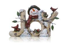 χιονάνθρωπος χαράς Στοκ Φωτογραφία