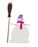 Χιονάνθρωπος, χιονιά Στοκ φωτογραφία με δικαίωμα ελεύθερης χρήσης