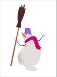 Χιονάνθρωπος, χιονιά Στοκ Εικόνες