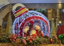 Χιονάνθρωπος Χριστουγέννων Στοκ Φωτογραφία
