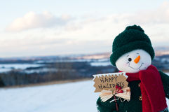 Χιονάνθρωπος Χριστουγέννων Στοκ εικόνες με δικαίωμα ελεύθερης χρήσης