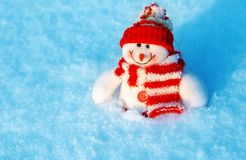 χιονάνθρωπος Χριστουγέν&n Στοκ φωτογραφία με δικαίωμα ελεύθερης χρήσης